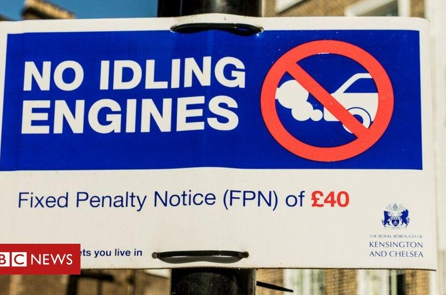 How polluting are idling cars and buses?